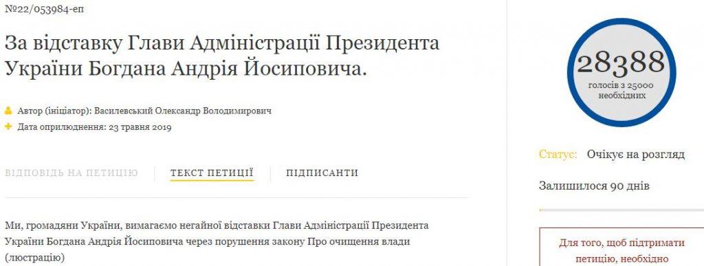 Петиция об отставке главы АП набрала голоса  Подробнее читайте на Юж-Ньюз: http://xn----ktbex9eie.com.ua/archives/52234