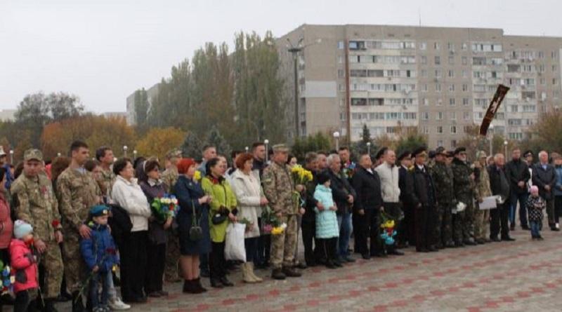 У місті Южноукраїнську у свято Покрови Пресвятої Богородиці відзначили День захисника України, День Українського козацтва. Фото. Подробнее читайте на Юж-Ньюз: http://xn----ktbex9eie.com.ua/archives/64553
