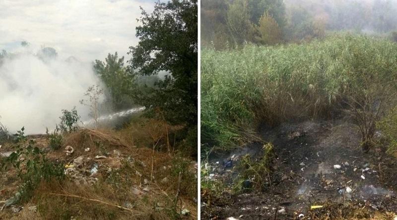 В Первомайске возле дома престарелых возник масштабный пожар. Видео