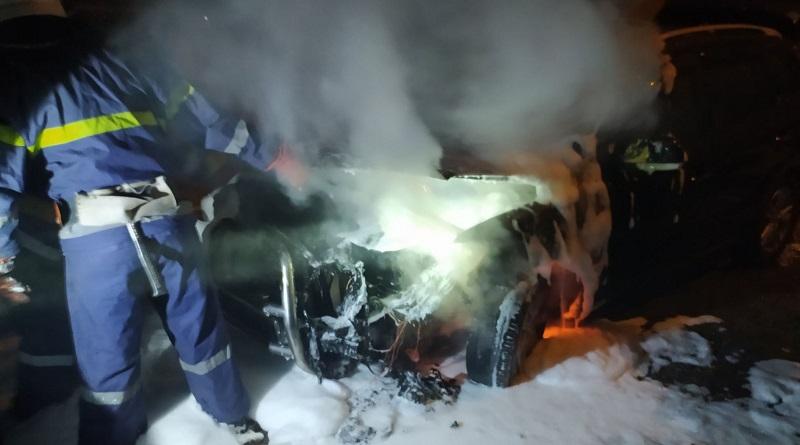 В Южноукраинске сожгли автомобиль майора полиции