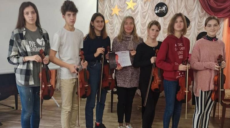 Южноукраїнськ - Вітаємо ансамбль скрипалів школи мистецтв з перемогою