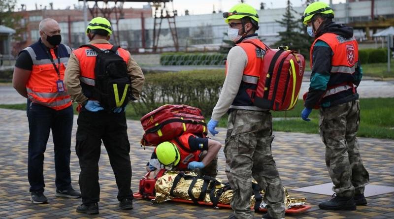 На Южно-Українській АЕС пройшли тренування волонтерів-рятувальників