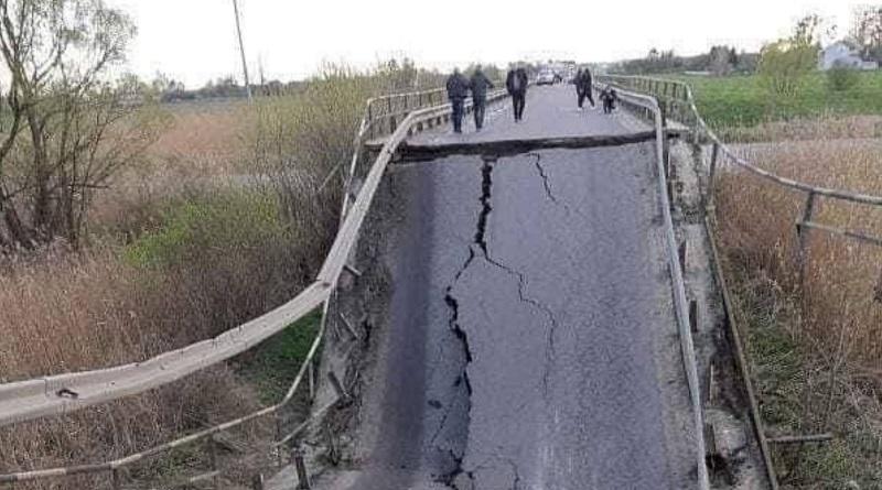В Украине обрушился автомобильный мост