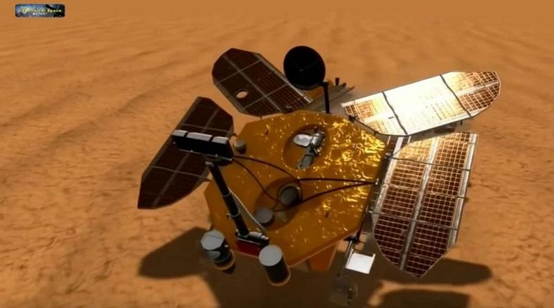 Первый китайский марсоход высадился на Марсе. Видео.