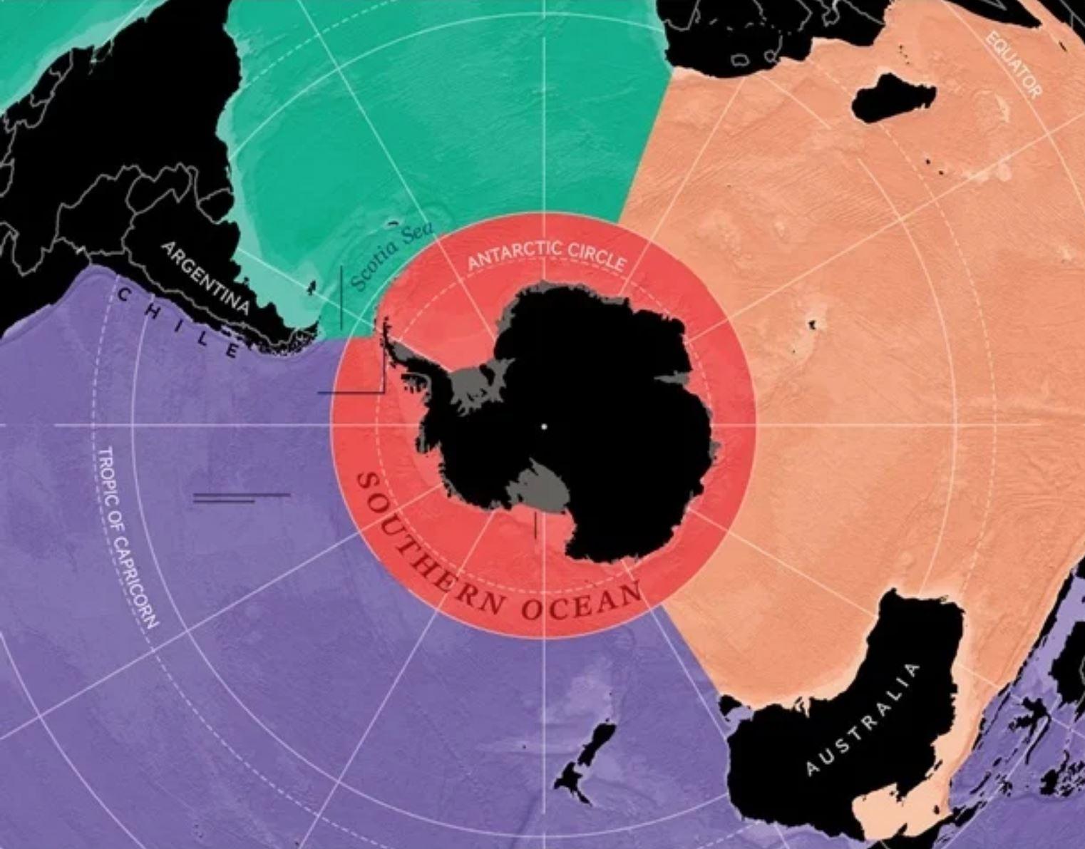 На карте мира появился пятый океан