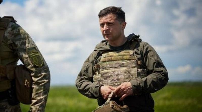 К границе Украины стянуто около 100 тыс. российских военных – Зеленский