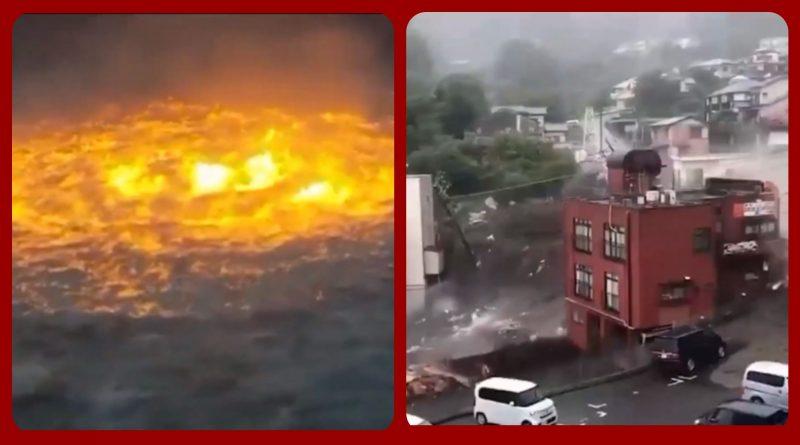 А вот что происходит в Мексиканском заливе/Мощный оползень сошёл в японском городе Атами. Видео.