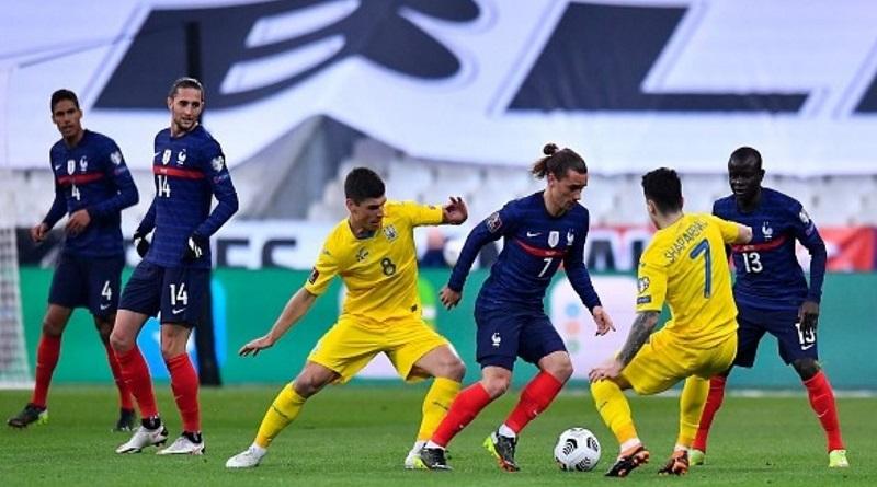 Сборная Украины сыграла в ничью в матче с действующим чемпионом мира