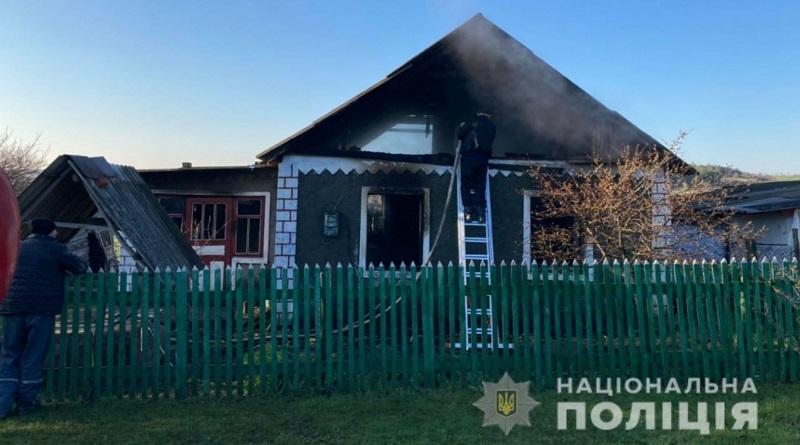 В Доманёвском районе горел частный дом — за поджог задержали местного жителя