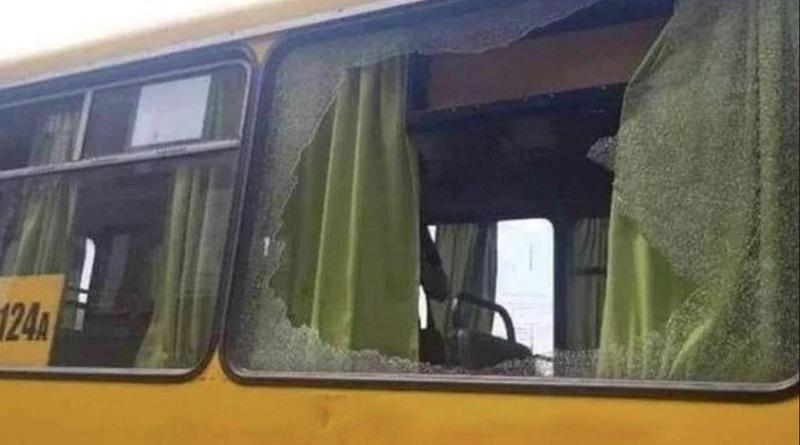 В Днепре обстреляли автобус с людьми