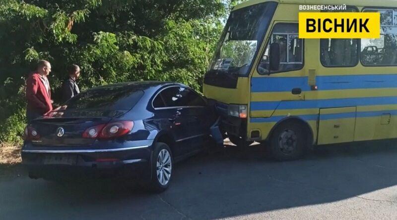Мэр Вознесенска устроил ДТП с автобусом