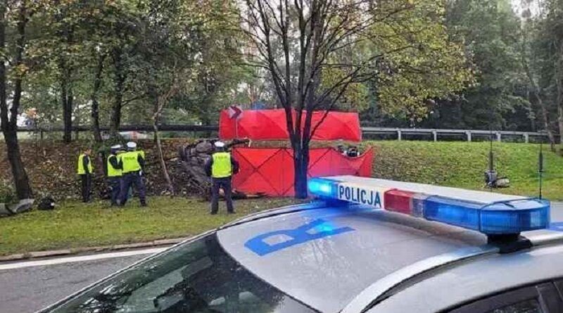 В Польше на дороге перевернулся автомобиль с украинцами, есть погибшие